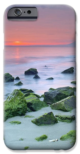 Malaga iPhone Cases - Pink sunset iPhone Case by Guido Montanes Castillo