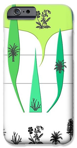 Plant Evolution, Diagram iPhone Case by Gary Hincks