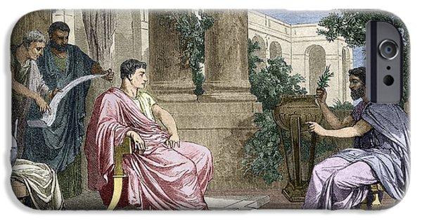 Flavius iPhone Cases - Pliny The Elder, Roman Naturalist iPhone Case by Sheila Terry