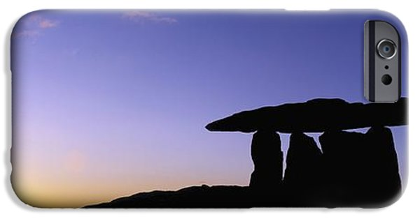 Historic Site iPhone Cases - Poulnabrone Dolmen, The Burren, Co iPhone Case by The Irish Image Collection