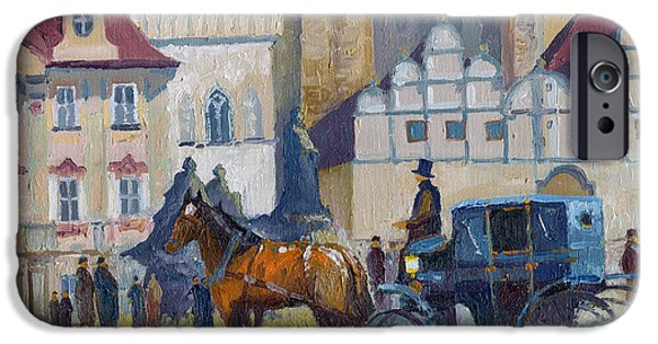 Town iPhone Cases - Prague Old Town Square 01 iPhone Case by Yuriy  Shevchuk