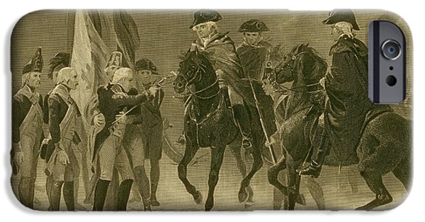 American Revolution iPhone Cases - Rall Surrenders, Battle Of Trenton, 1776 iPhone Case by Photo Researchers