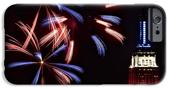 July 4th iPhone Cases - Red White and Blue iPhone Case by Susan Candelario