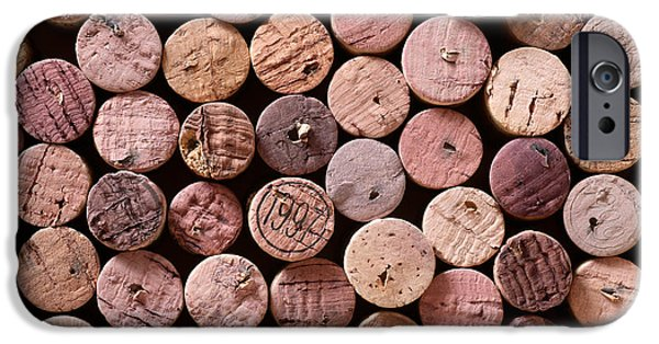 Wine Deco Art iPhone Cases - Red Wine Corks iPhone Case by Frank Tschakert