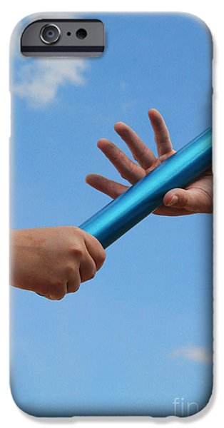 Athlete Photographs iPhone Cases - Relay Baton iPhone Case by Photo Researchers, Inc.