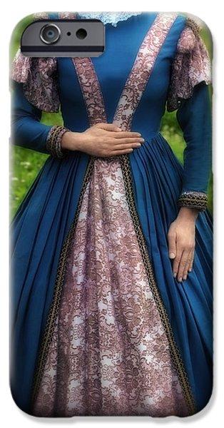 Edwardian iPhone Cases - Renaissance Princess iPhone Case by Joana Kruse
