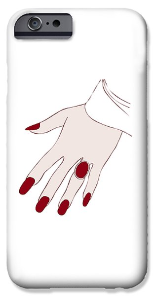 Ring Finger iPhone Case by Frank Tschakert