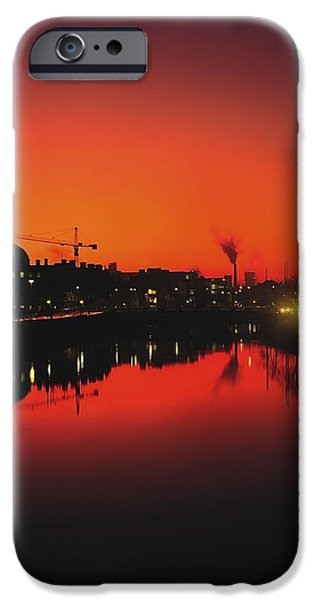 River Liffey, Dublin, Co Dublin, Ireland iPhone Case by The Irish Image Collection