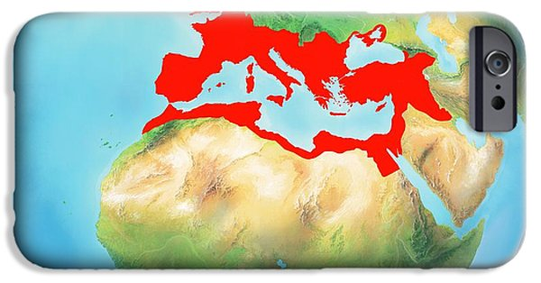 Northern Africa iPhone Cases - Roman Empire, Artwork iPhone Case by Gary Hincks