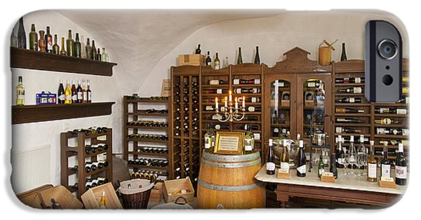 Table Wine iPhone Cases - Rustic Wine Cellar iPhone Case by Jaak Nilson