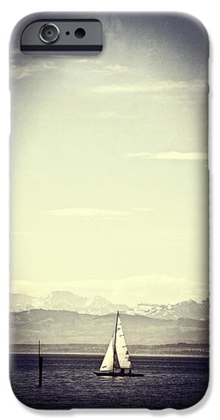 sailing boat iPhone Case by Joana Kruse