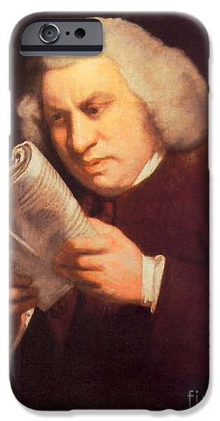 Samuel Johnson, English Author iPhone Case by Photo Researchers