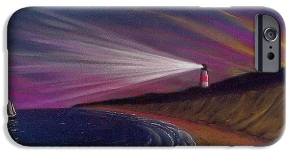 Sailboats Pastels iPhone Cases - Sankaty Head Lighthouse Nantucket iPhone Case by Charles Harden