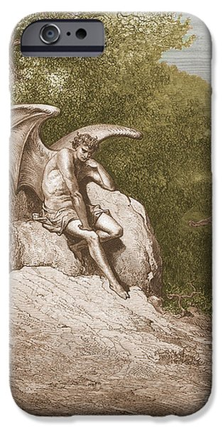 Serpent iPhone Cases - Satan, By Dore iPhone Case by Photo Researchers