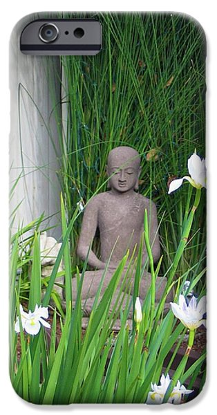 Sausalito iPhone Cases - Sausalito Buddha iPhone Case by Patricia Lynn Reilly