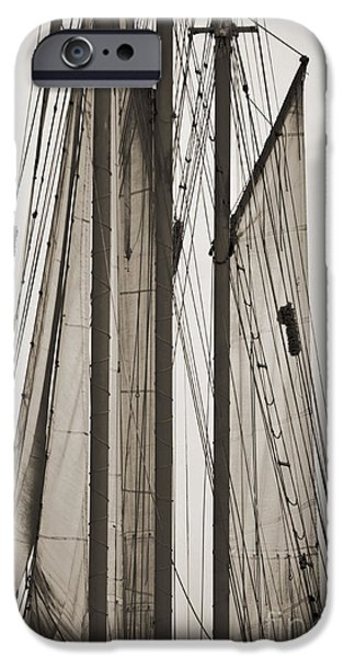 Tall Ship iPhone Cases - Schooner Pride Tall Ship Charleston SC iPhone Case by Dustin K Ryan
