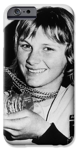 Press Conference iPhone Cases - Shane Gould (1956- ) iPhone Case by Granger