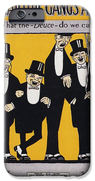 SHEET MUSIC COVER, 1917 iPhone Case by Granger