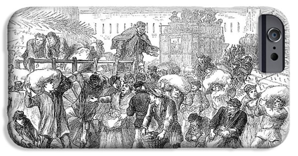 1871 iPhone Cases - Siege Of Paris, 1871 iPhone Case by Granger