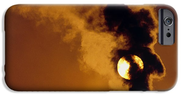 Asphalt iPhone Cases - Smoke Plume From Asphalt Plant iPhone Case by David Nunuk
