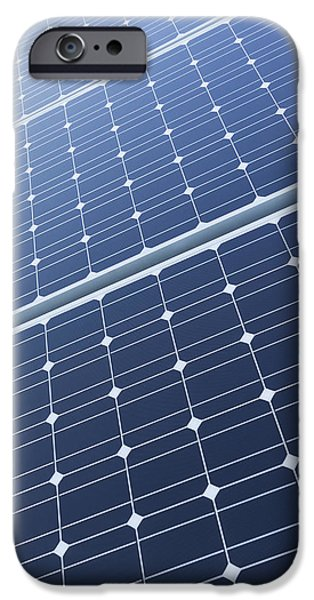 Power Industry iPhone Cases - Solar Panels Fixed On The Rooftop iPhone Case by Don Mason
