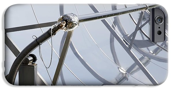 Electrical Equipment iPhone Cases - Solar Parabolic Mirrors, Cologne, Germany iPhone Case by Detlev Van Ravenswaay