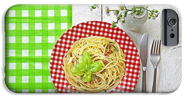 Spaghetti iPhone Cases - Spaghetti al Pesto iPhone Case by Joana Kruse
