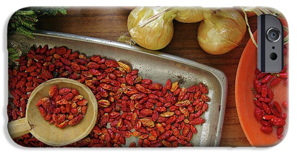 Chilli iPhone Cases - Spicy still life iPhone Case by Carlos Caetano