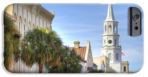 Church iPhone Cases - St Michaels Church Charleston SC iPhone Case by Dustin K Ryan