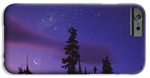Stargazing iPhone Cases - Starry Sky iPhone Case by David Nunuk
