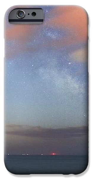 Stars And Jupiter In A Night Sky iPhone Case by Laurent Laveder