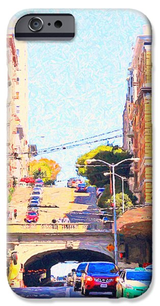 Stockton iPhone Cases - Stockton Street Tunnel in San Francisco iPhone Case by Wingsdomain Art and Photography