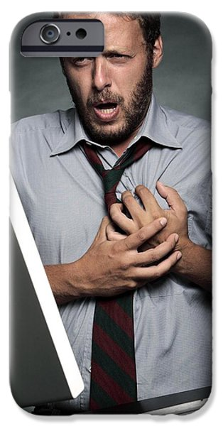Stress-related Heart Attack iPhone Case by Mauro Fermariello