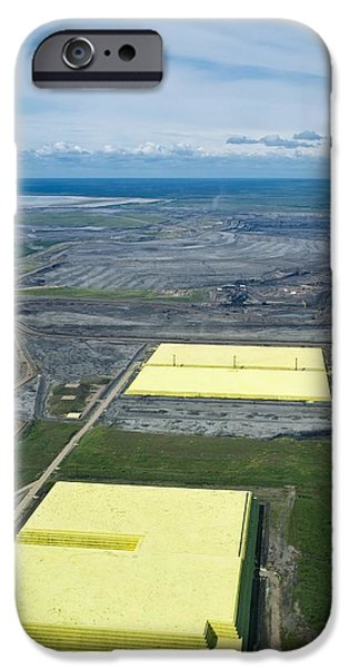 Oil Reserves iPhone Cases - Sulphur Extracted From Oil, Canada iPhone Case by David Nunuk