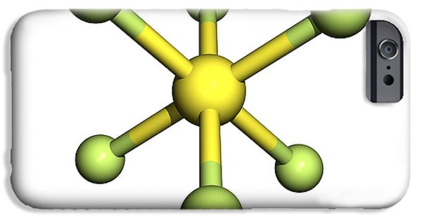 Pollutant iPhone Cases - Sulphur Hexafluoride Molecule iPhone Case by Friedrich Saurer