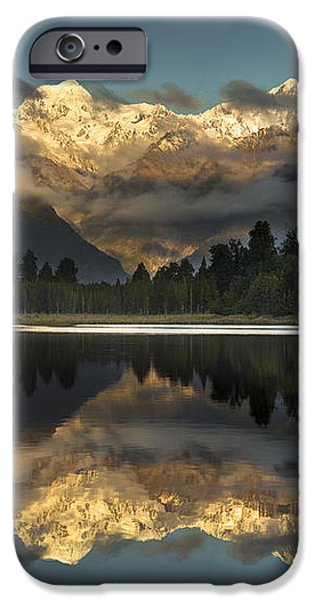 Sunset Reflection Of Lake Matheson iPhone Case by Colin Monteath