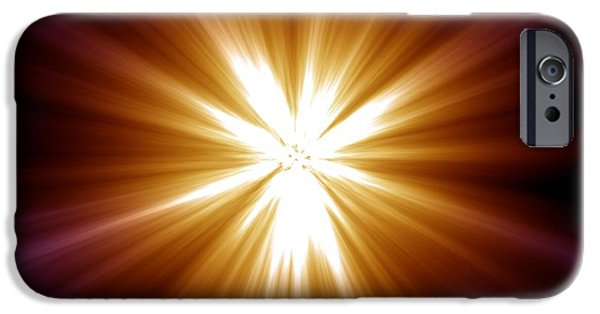 Gamma Ray Burst iPhone Cases - Supernova Explosion, Artwork iPhone Case by Mehau Kulyk