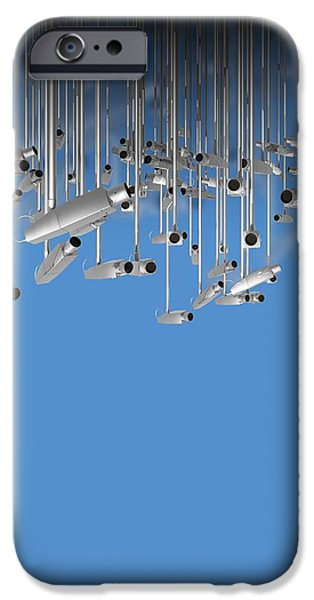 Surveillance, Conceptual Image iPhone Case by Victor Habbick Visions