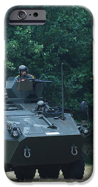 The Pandur Recce Vehicle In Use iPhone Case by Luc De Jaeger