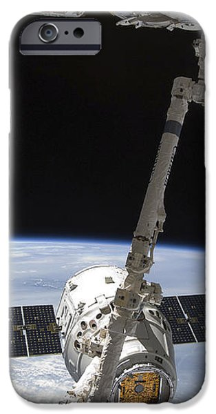 The Spacex Dragon Cargo Craft iPhone Case by Stocktrek Images