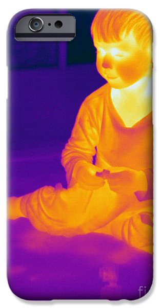 Electromagnetic Spectrum iPhone Cases - Thermogram Of A Boy iPhone Case by Ted Kinsman