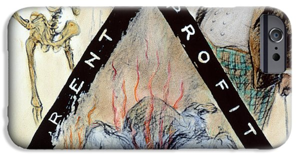 Political Allegory iPhone Cases - Triangle Factory Fire iPhone Case by Granger