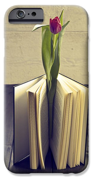 tulip in a book iPhone Case by Joana Kruse