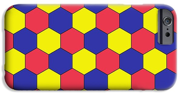 2d iPhone Cases - Uniform Tiling Pattern iPhone Case by