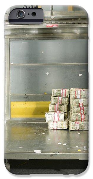 US Dollar Bills in a Bank Cart iPhone Case by Adam Crowley