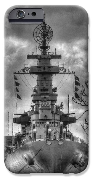 Wwi iPhone Cases - U.S.S. North Carolina iPhone Case by JC Findley