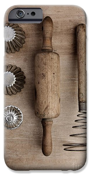 Concept iPhone Cases - Vintage Cooking Utensils iPhone Case by Nailia Schwarz