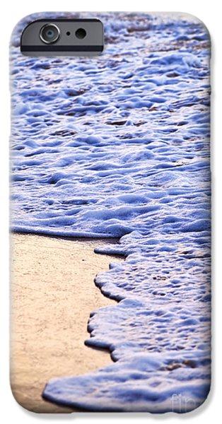 Getaway iPhone Cases - Waves breaking on tropical shore iPhone Case by Elena Elisseeva
