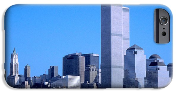 Twin Towers Nyc iPhone Cases - We will never forget iPhone Case by Carl Purcell