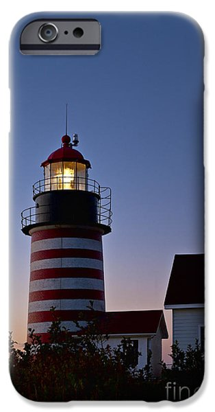West Quoddy Head Lighthouse iPhone Case by John Greim
